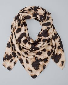 Leopard-Studded Square Scarf