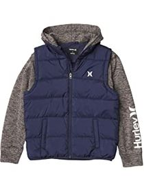 Hurley Kids Twofer Puffer Jacket (Big Kids)