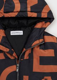 Armani Hooded jacket with all-over logo print