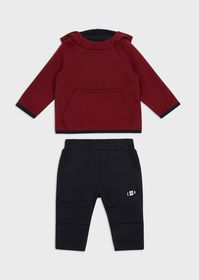 Armani Hooded tracksuit with logo print