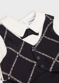Armani Baby suit with waistcoat and bow tie