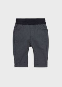 Armani Trousers with elasticated waist and turn-up