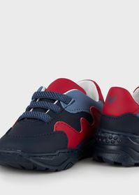Armani Leather sneakers with contrasting details