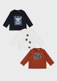 Armani Pack of 3 Games print sweaters