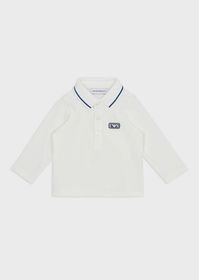 Armani Jersey polo shirt with EA patch