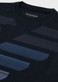Armani Jersey T-shirt with oversized op art eagle