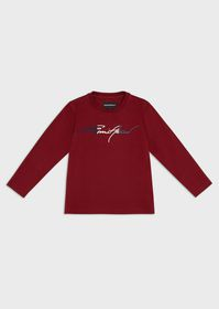 Armani Mercerised jersey sweater with embroidered