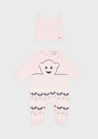 Armani Gift set with baby suit and beanie