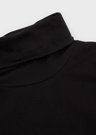 Armani Embroidered, jersey mock neck