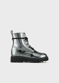 Armani Mirrored-lamé ankle boots