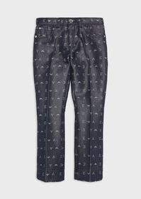 Armani Denim jeans with jacquard all-over letterin