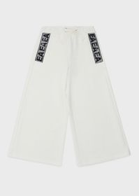 Armani Flared, oversized sweatpants with sequinned