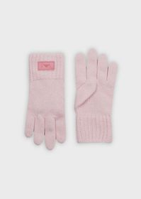 Armani Mixed-wool gloves with logo patch