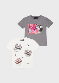 Armani Pack of two T-shirts with Music print