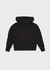 Armani Mixed-wool sweater with all-over intarsia l