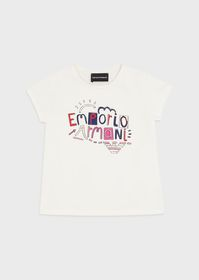 Armani Cotton-jersey T-shirt with adornments and l