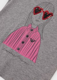 Armani T-shirt with sequinned eyeglass print