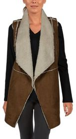 Natural Reflections Faux-Suede Vest for Ladies