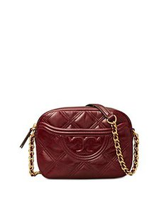 Tory Burch - Fleming Mini Quilted Leather Camera C