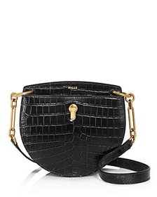 Bally - Cecyle Small Croc-Embossed Leather Crossbo
