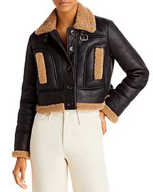 FRENCH CONNECTION - Belen Cropped Faux Fur Jacket