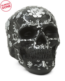 7.5in Resin Matte Patterned Skull