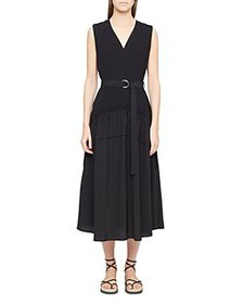 3.1 Phillip Lim - Belted Shirred Midi Dress