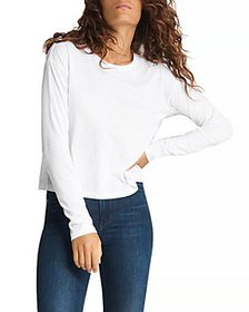 rag & bone - The Slub Cropped Cotton Tee