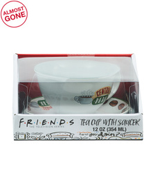 12oz Central Perk Tea Cup And Saucer