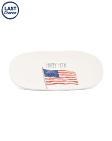 RAE DUNN Happy 4th Oval Tray