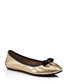 Salvatore Ferragamo - Women's My Joy Metallic Leat