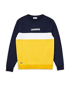 Lacoste - Cotton Blend Color Block Regular Fit Swe