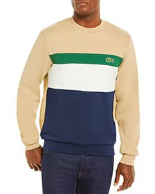 Lacoste - Cotton Color Block Classic Fit Crewneck