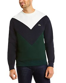Lacoste - Color-block Fleece Sweatshirt