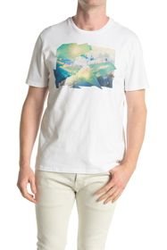 7 For All Mankind Sky Graphic Tee