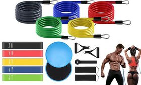 Workout Resistance Bands Set Stackable Exercise Ba