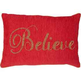Peacock Alley Believe Beaded Throw Pillow - 14x20""