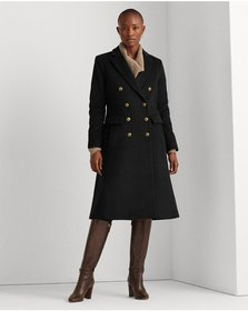 Ralph Lauren Fit-and-Flare Wool-Blend Coat