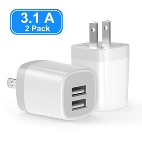 USB Charger, Dual Port Wall Charger, power adapter