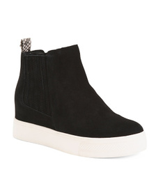 Suede Fashion Sneakers With Goring