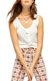 Free People Vacay Linen Blend Tank Top