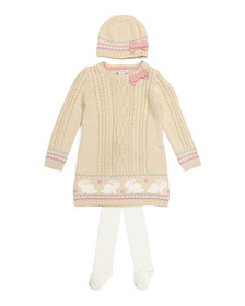 CATHERINE MALANDRINO Toddler Girls Bunny Trim Swea