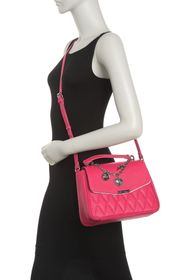 Betsey Johnson Quilted Top Handle Crossbody Bag