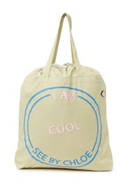 See By Chloe I Am Cool Canvas Large Tote