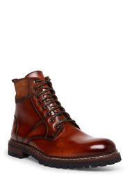 Steve Madden Stratus Leather Lace-Up Lug Sole Boot