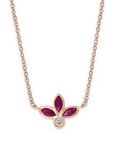 Bloomingdale's - Ruby & Diamond Statement Necklace