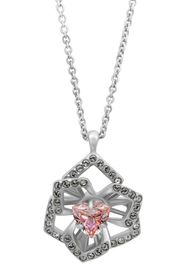 Swarovski Crystal Abstract Flower Pendant Necklace