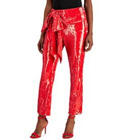 INC Allover-Sequin Tie-Waist Pants, Created for Ma