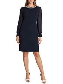 Tahari by ASL Petite Stretch Scuba Crepe Sheath wi
