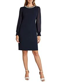 Tahari by ASL Stretch Scuba Crepe Sheath with Pear